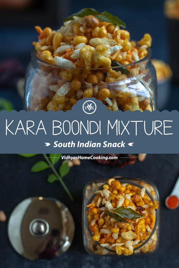 Easy South-Indian Kara Boondi Mixture collage with text overlay