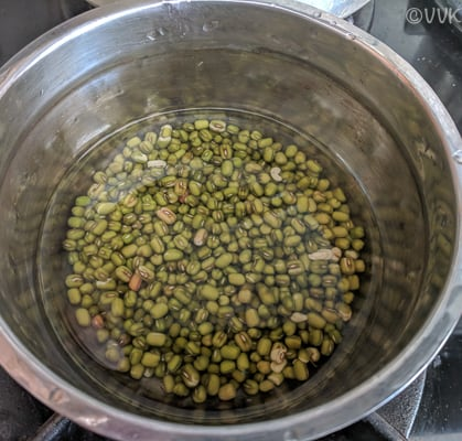 cooking moong beans in open pot method