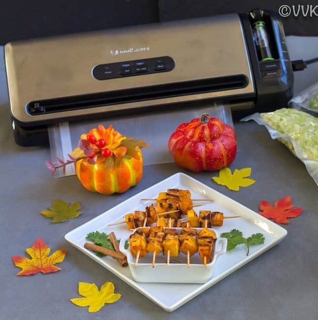 Pan Grilled Apple and Butternut Squash with Pumpkin Spice