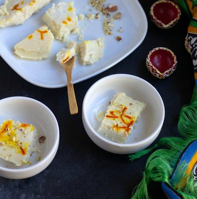 Ricotta Cheese Bhapa Sandesh | Steamed Sandesh