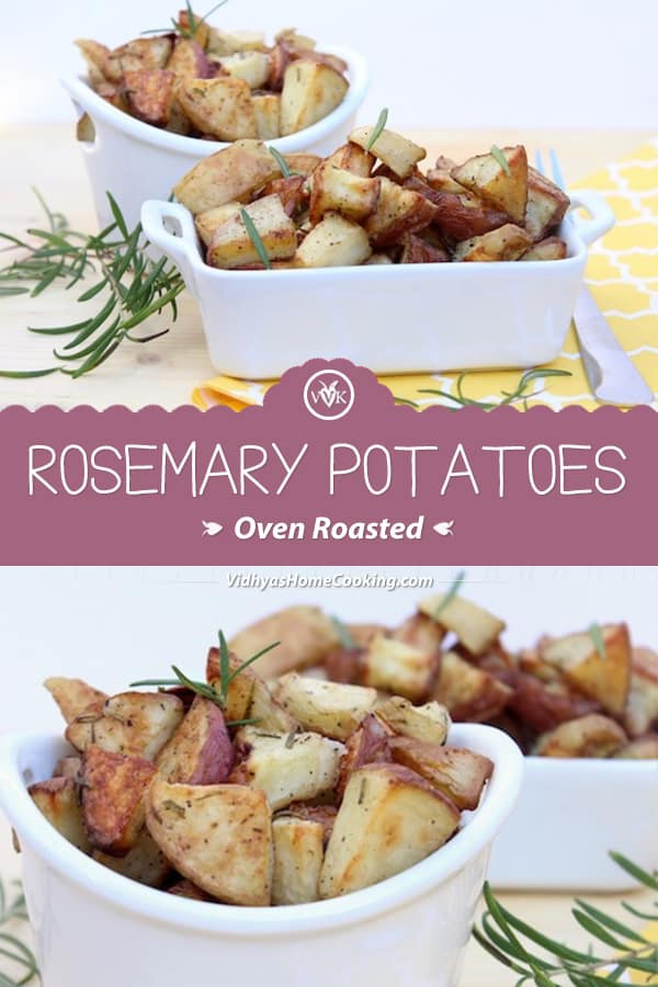 Oven Roasted Rosemary Potatoes collage with text overlay