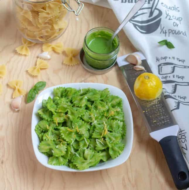 Instant Pot Spinach Pesto Pasta | Vegan Pesto Pasta