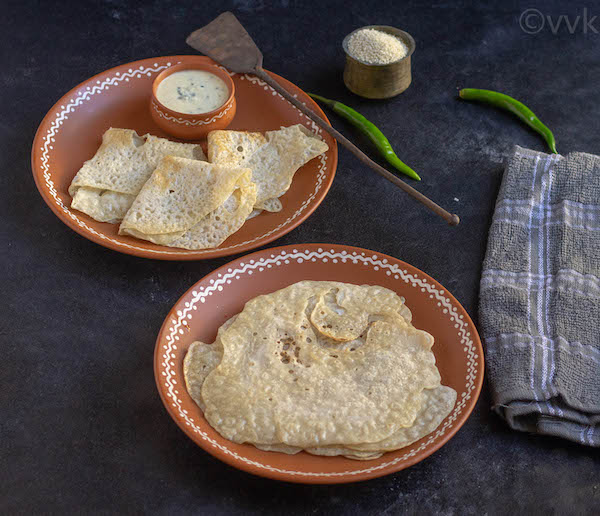 Serving Barnyard Millet Neer Dosa hot with chutney