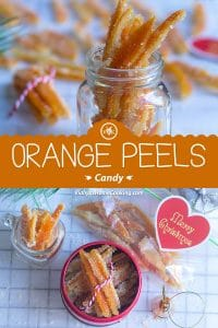 Orange Peels Candy collage with text overlay