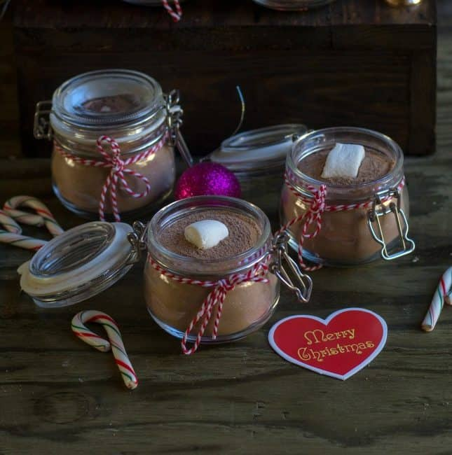 Hot Chocolate Mix with Peppermint | Xmas Hot Cocoa Gift Jars