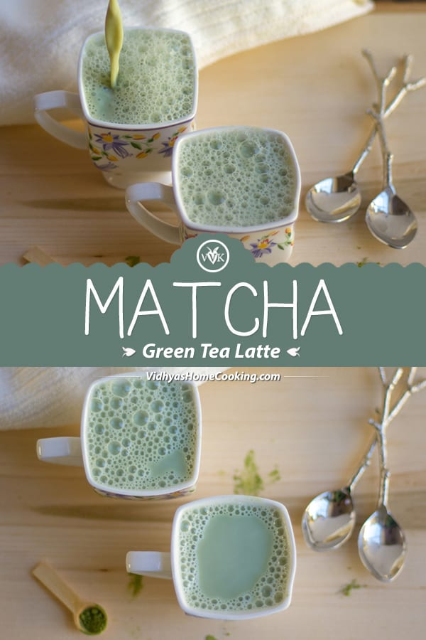 Matcha Green Tea Latte collage with text overlay