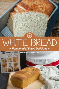 Homemade White Bread collage with Text Overlay