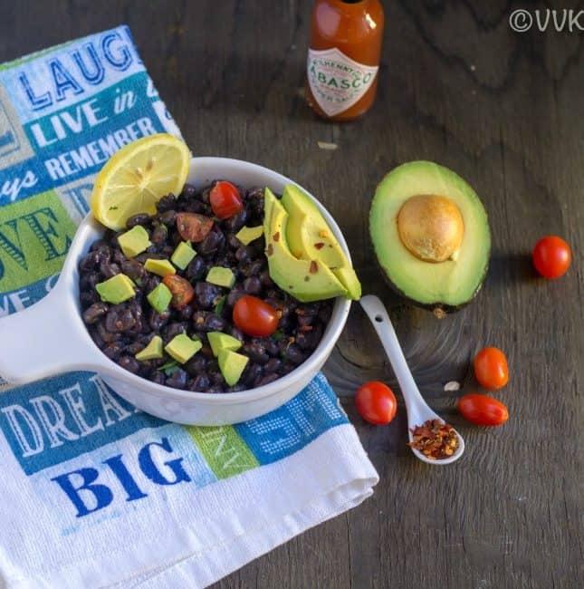 Instant Pot Black Bean Taco Salad
