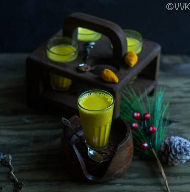 Easy Turmeric Milk - Golden Milk - Fabulous Composition with a Pine Cone