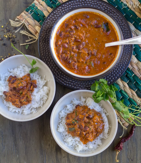 Konkani style rajma curry with rice