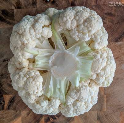 Recipe Steps Image - Cauliflower Closeup
