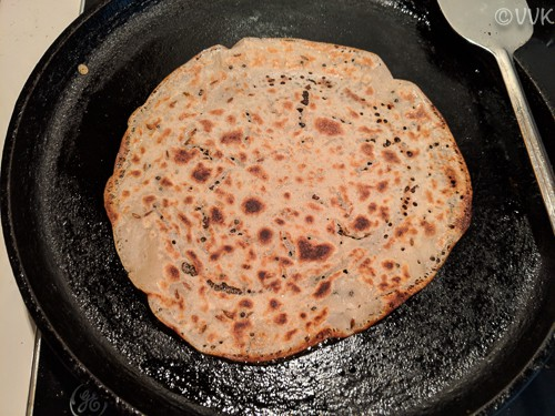 cooked wheat dosai