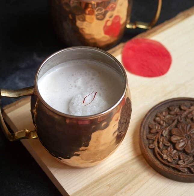 coconut water kheer in moscow muled copper mug