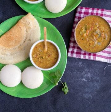 tiffin sambar along with dosa and idli and separately
