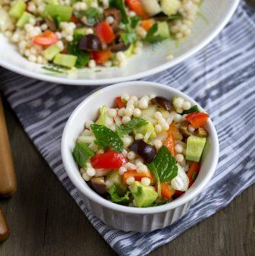 couscous salad close look