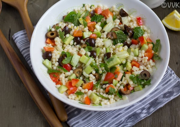 couscous salad after mixing