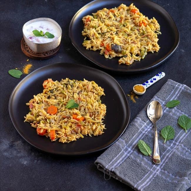 Delhi Veg Biryani Degi Biryani Vidhya S Vegetarian Kitchen