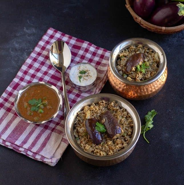 indian eggplant biryani recipe