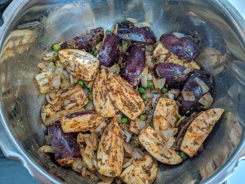 eggplant biryani step 3