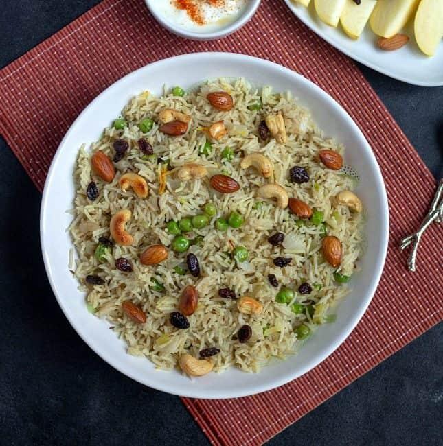 instant pot kashmiri peas pulav recipe