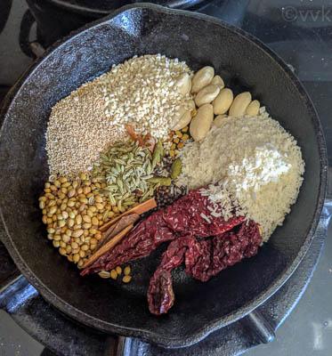 roasting xacuti masala