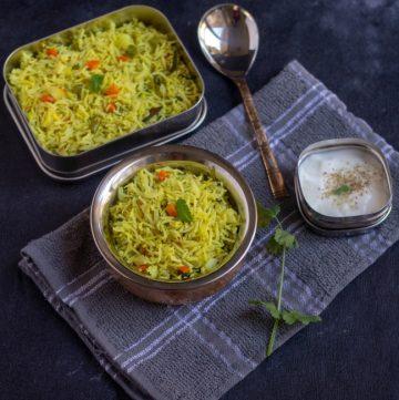 sattvic veg pulav recipe