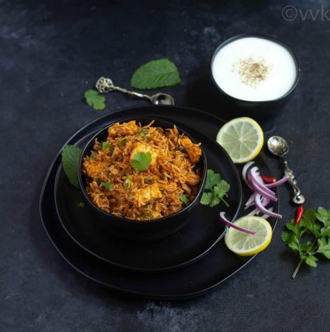 paneer makhani biryani recipe