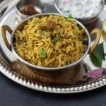 Vegetarian Bhatkal or Bhatkali Biryani Recipe