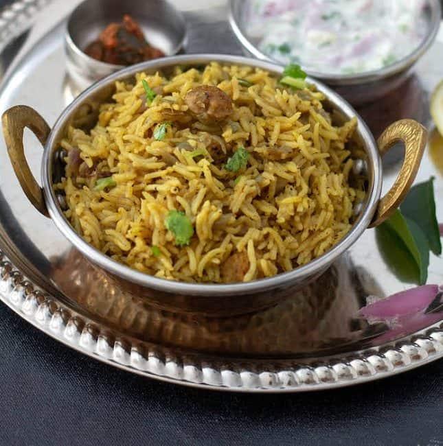 Vegetarian Bhatkal or Bhatkali Biryani Recipe