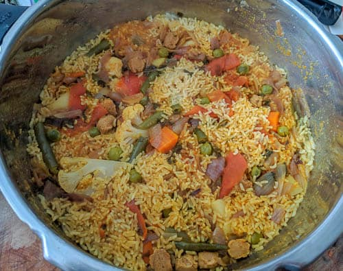 rawther biryani after cooking