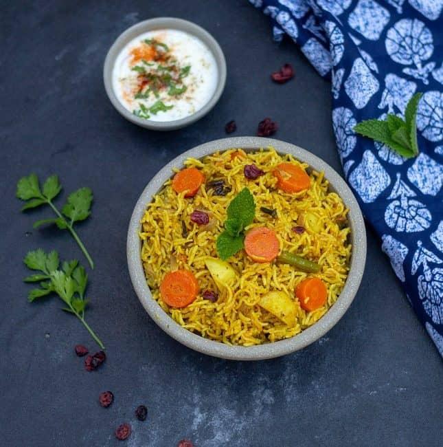 instant pot sindhi veg biryani recipe