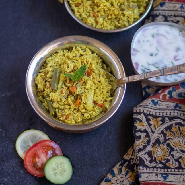 Thalassery Veg Biryani Malabar Biryani Vidhya S Vegetarian Kitchen