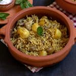 instant pot kolkata veg biryani in clay pot