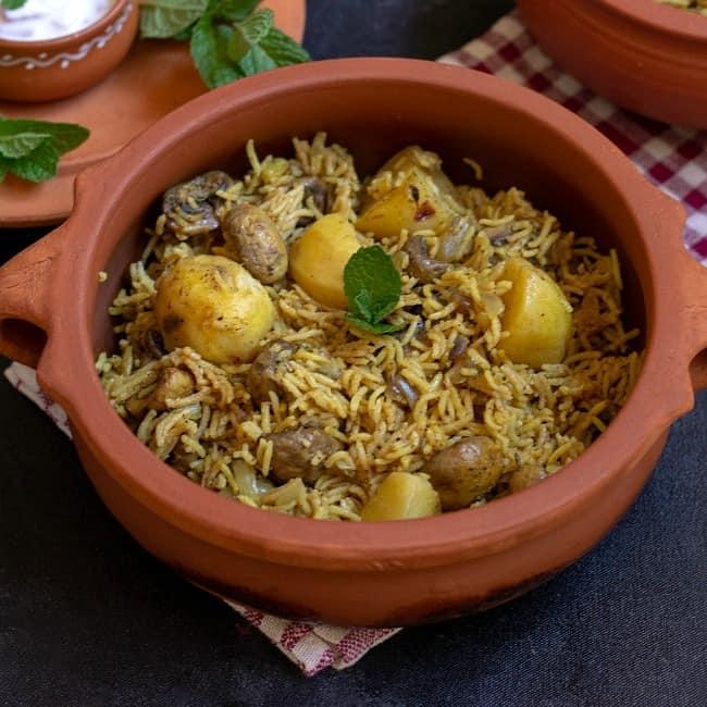 Calcutta Biryani Instant Pot Kolkata Veg Biryani Vidhya S Vegetarian Kitchen