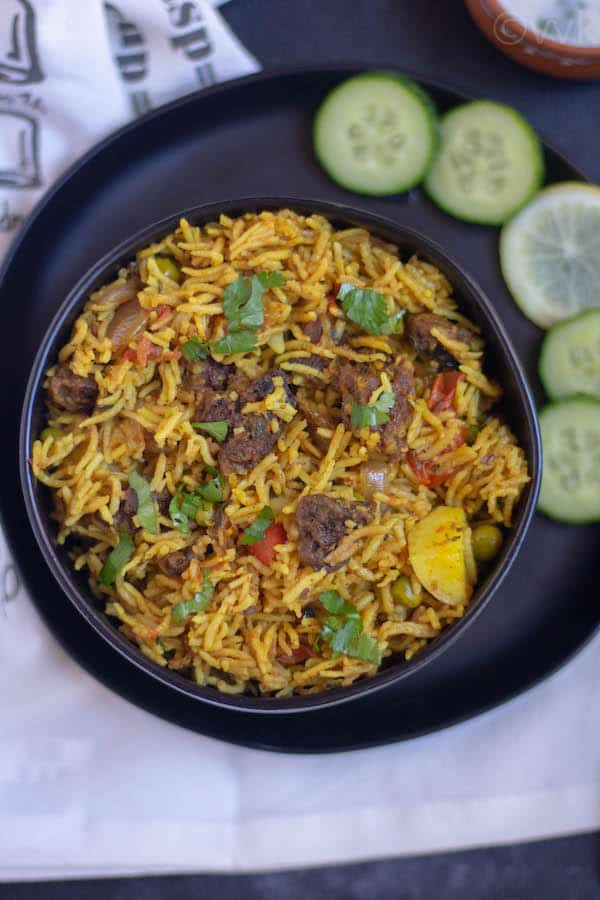 Punjabi Wadi Biryani Close Look