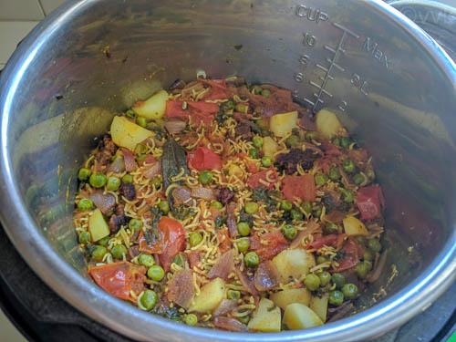 wadi ki biryani after cooking