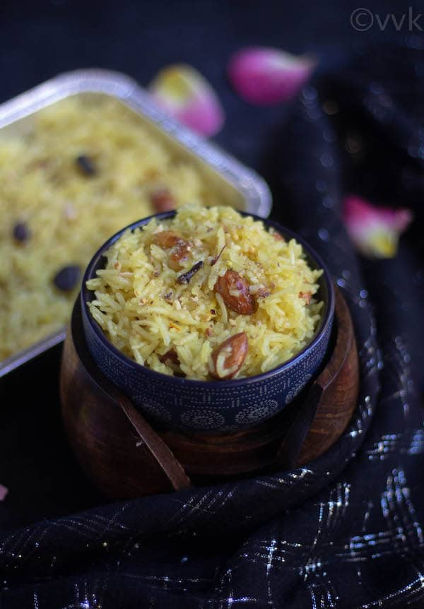 zarda pulao close look