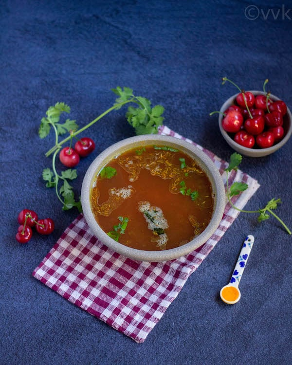 simple cherry rasam recipe