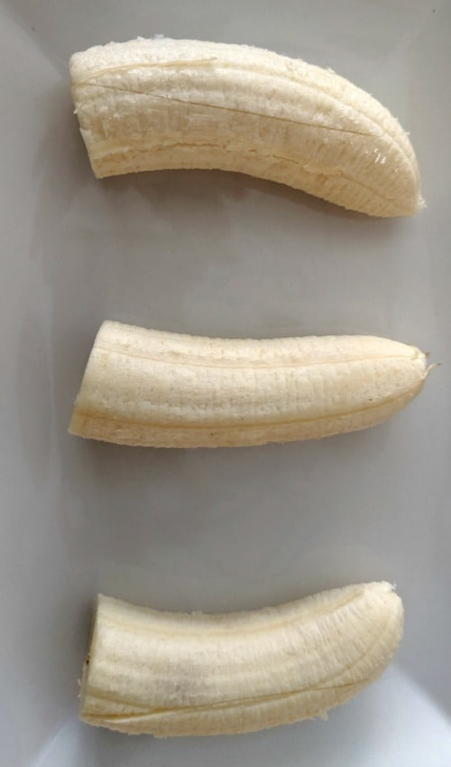 cut bananas for banana splits