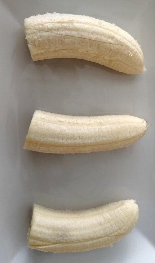 cut bananas for banana splits