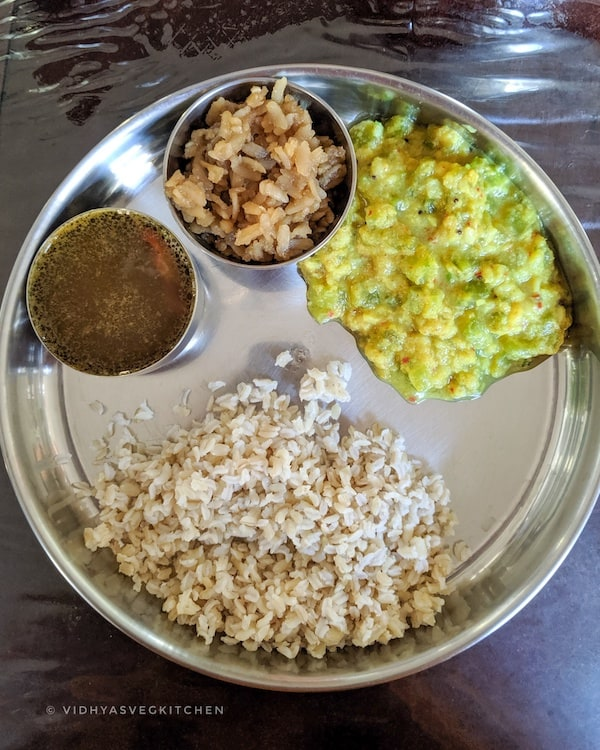 everydaycooking rice, rasam and kootu