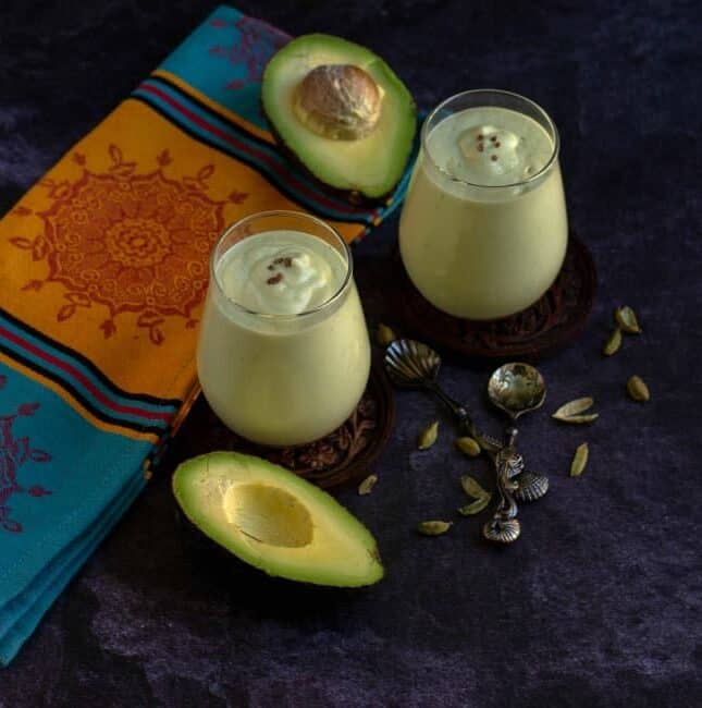 easy avocado lassi recipe with cardamom