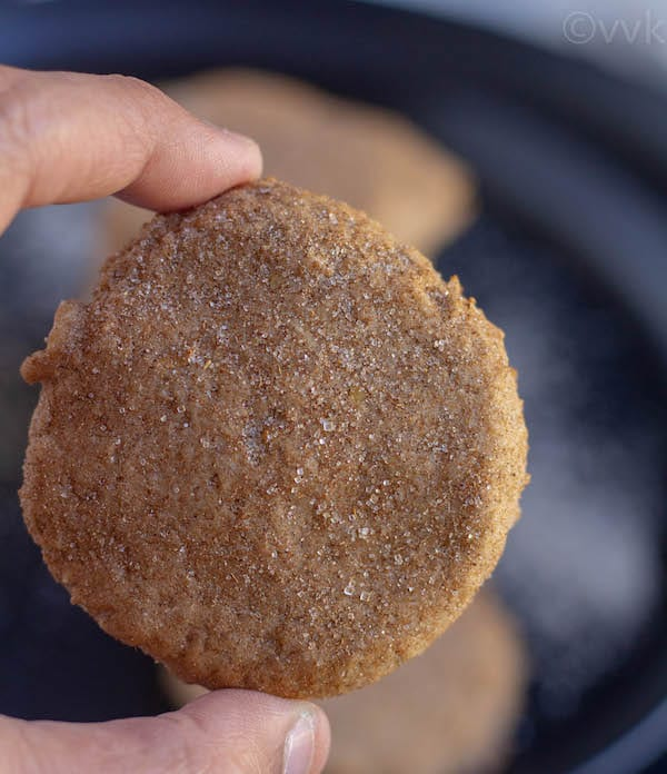 close up shot of single cookie