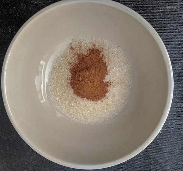 sugar and cinnamon in a bowl