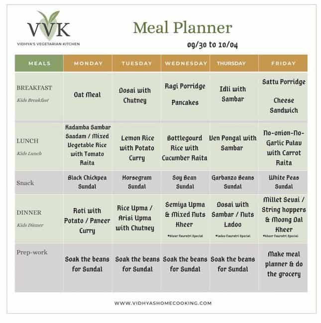 no onion no garlic meal planner