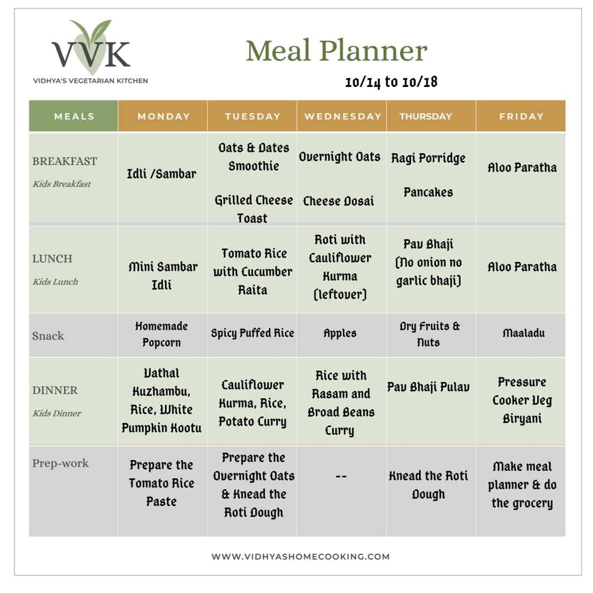 meal planner 1014 1018