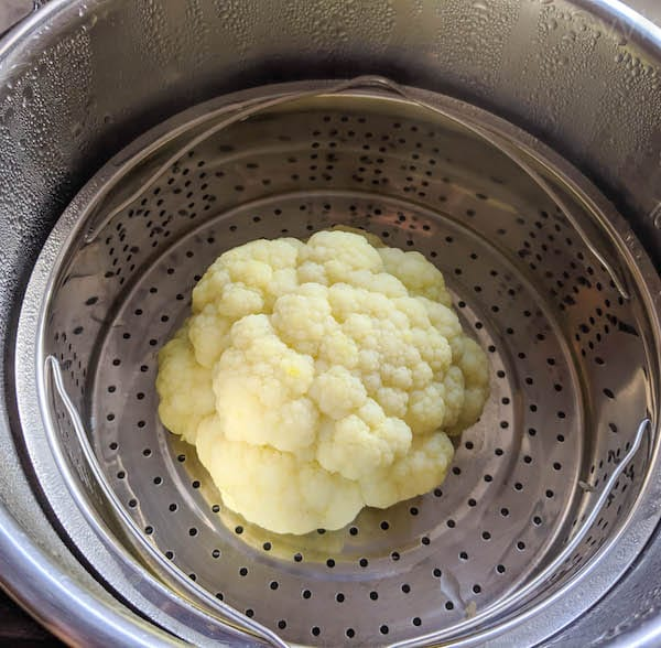 cauliflower after steaming