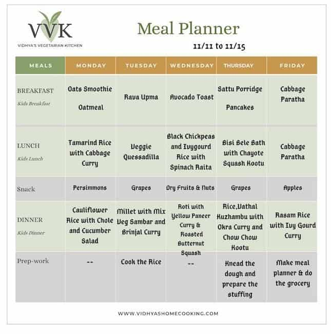 seasonal meal planner