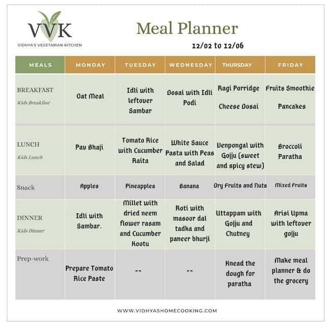 semi homemade meal planner