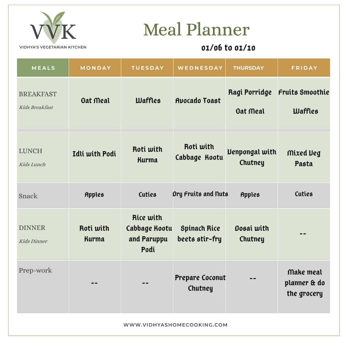 meal planner with instant pot recipes and one pot meals